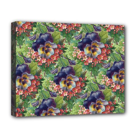 Background Square Flower Vintage Deluxe Canvas 20  X 16   by Nexatart