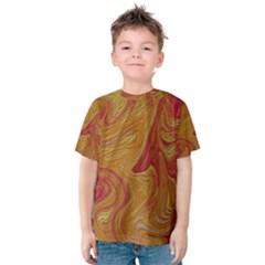 Texture Pattern Abstract Art Kids  Cotton Tee