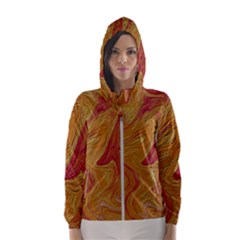 Texture Pattern Abstract Art Hooded Wind Breaker (women)