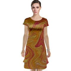 Texture Pattern Abstract Art Cap Sleeve Nightdress
