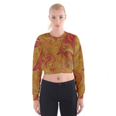 Texture Pattern Abstract Art Cropped Sweatshirt