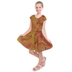 Texture Pattern Abstract Art Kids  Short Sleeve Dress