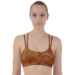 Texture Pattern Abstract Art Line Them Up Sports Bra
