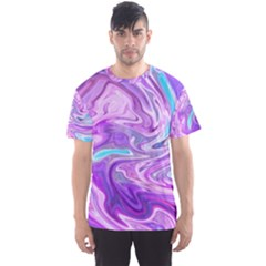 Abstract Art Texture Form Pattern Men s Sports Mesh Tee