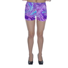 Abstract Art Texture Form Pattern Skinny Shorts