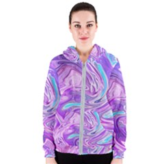 Abstract Art Texture Form Pattern Women s Zipper Hoodie