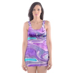 Abstract Art Texture Form Pattern Skater Dress Swimsuit