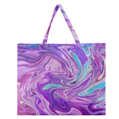 Abstract Art Texture Form Pattern Zipper Large Tote Bag