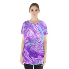 Abstract Art Texture Form Pattern Skirt Hem Sports Top