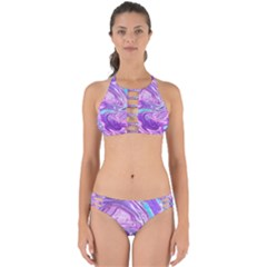 Abstract Art Texture Form Pattern Perfectly Cut Out Bikini Set