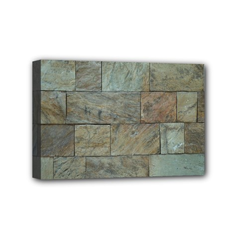 Wall Stone Granite Brick Solid Mini Canvas 6  X 4