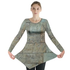 Wall Stone Granite Brick Solid Long Sleeve Tunic