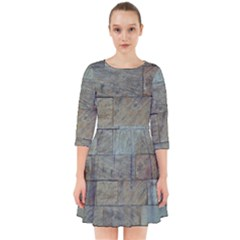 Wall Stone Granite Brick Solid Smock Dress