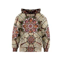 Pattern Round Abstract Geometric Kids  Pullover Hoodie