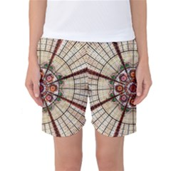 Pattern Round Abstract Geometric Women s Basketball Shorts
