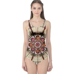 Pattern Round Abstract Geometric One Piece Swimsuit