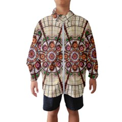 Pattern Round Abstract Geometric Wind Breaker (kids)