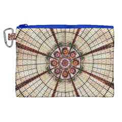 Pattern Round Abstract Geometric Canvas Cosmetic Bag (xl)