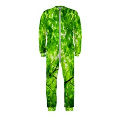 Green Wood The Leaves Twig Leaf Texture Onepiece Jumpsuit (kids)