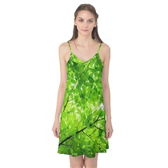 Green Wood The Leaves Twig Leaf Texture Camis Nightgown