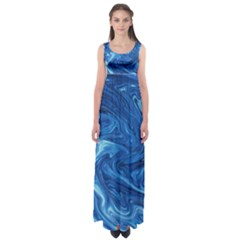 Abstract Pattern Texture Art Empire Waist Maxi Dress