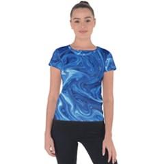 Abstract Pattern Texture Art Short Sleeve Sports Top