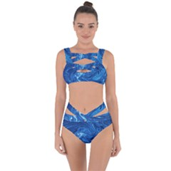 Abstract Pattern Texture Art Bandaged Up Bikini Set