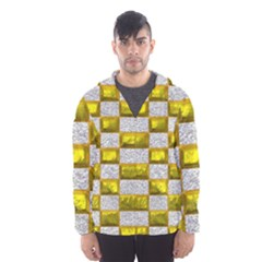 Pattern Desktop Square Wallpaper Hooded Wind Breaker (men)