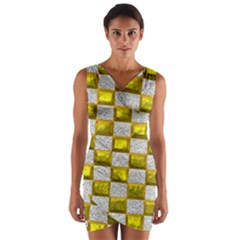 Pattern Desktop Square Wallpaper Wrap Front Bodycon Dress