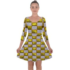 Pattern Desktop Square Wallpaper Quarter Sleeve Skater Dress