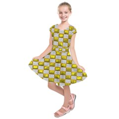 Pattern Desktop Square Wallpaper Kids  Short Sleeve Dress