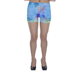 Background Art Abstract Watercolor Skinny Shorts