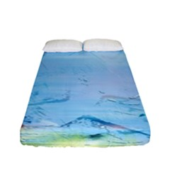 Background Art Abstract Watercolor Fitted Sheet (full/ Double Size)