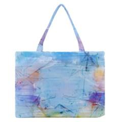 Background Art Abstract Watercolor Zipper Medium Tote Bag