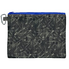 Abstract Collage Patchwork Pattern Canvas Cosmetic Bag (xxl) by dflcprints