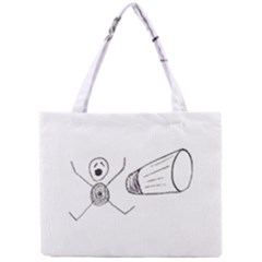 Violence Concept Drawing Illustration Small Mini Tote Bag by dflcprints
