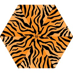 Tiger Fur 2424 100p Mini Folding Umbrellas by SimplyColor