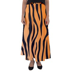 Tiger Fur 2424 100p Flared Maxi Skirt