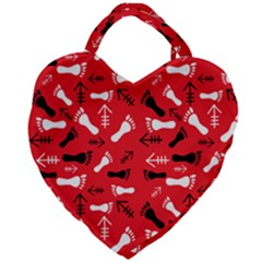 Red Giant Heart Shaped Tote by HASHHAB