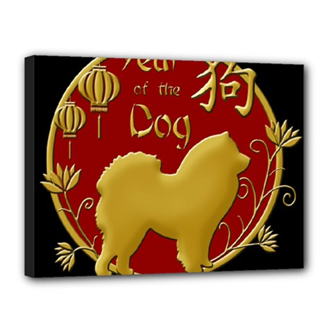 Year Of The Dog   Chinese New Year Canvas 16  X 12  by Valentinaart