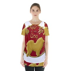 Year Of The Dog   Chinese New Year Skirt Hem Sports Top