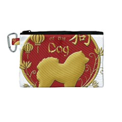 Year Of The Dog   Chinese New Year Canvas Cosmetic Bag (medium) by Valentinaart