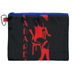 Cabaret Canvas Cosmetic Bag (xxl) by Valentinaart