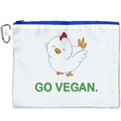 Go Vegan   Cute Chick  Canvas Cosmetic Bag (xxxl) by Valentinaart
