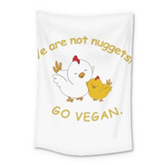 Go Vegan   Cute Chick  Small Tapestry by Valentinaart
