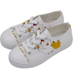 Go Vegan   Cute Chick  Kids  Low Top Canvas Sneakers by Valentinaart