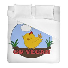Go Vegan   Cute Chick  Duvet Cover (full/ Double Size) by Valentinaart