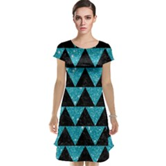 Triangle2 Black Marble & Turquoise Glittertriangle2 Black Marble & Turquoise Glitter Cap Sleeve Nightdress by trendistuff