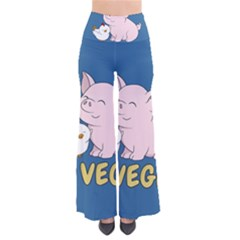 Go Vegan   Cute Pig And Chicken Pants by Valentinaart
