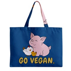 Go Vegan   Cute Pig And Chicken Zipper Mini Tote Bag by Valentinaart